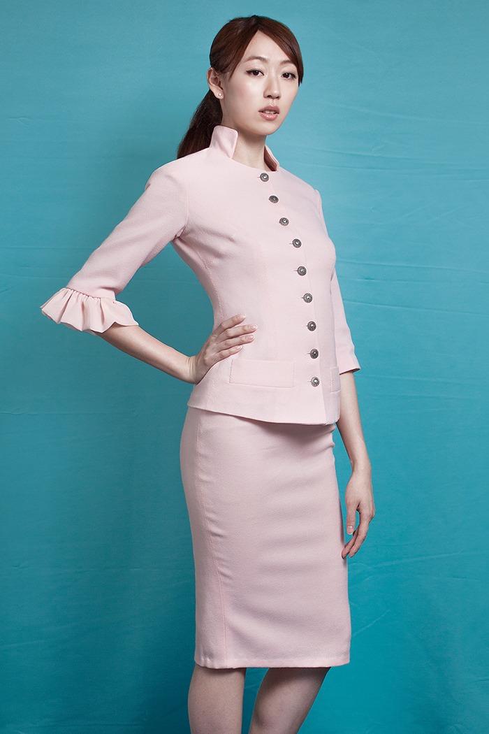 GRANDI pink suit office wear