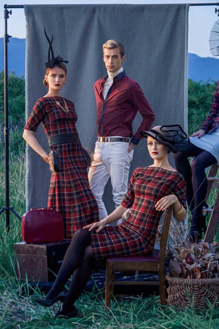 GRANDI red tartan dress gown