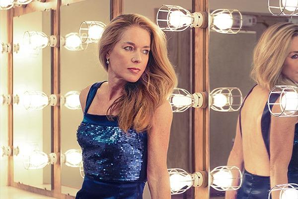 GRANDI Melissa Stubbs Academy Awards blue open back gown