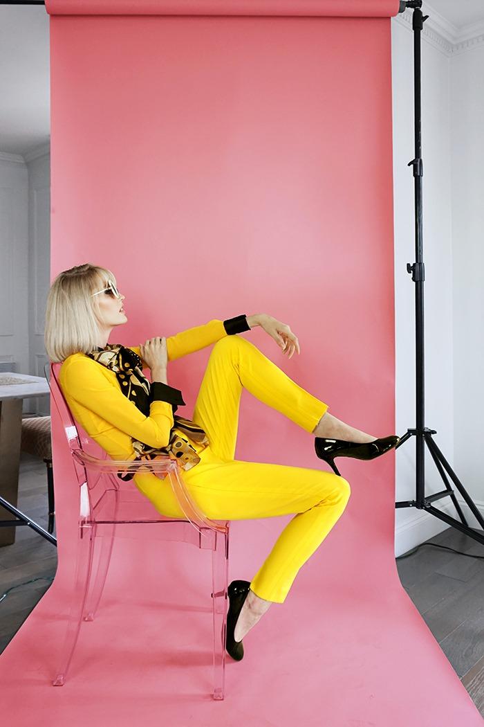 GRANDI yellow office wear shirt pants