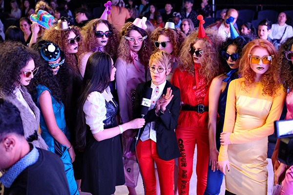 GRANDI Vancouver Fashion Week runway party girl club wear Black Iris lenses