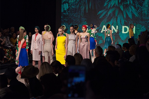 GRANDI Vancouver Fashion Week tropical colorful collection