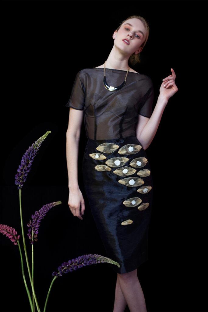 GRANDI black organza dress