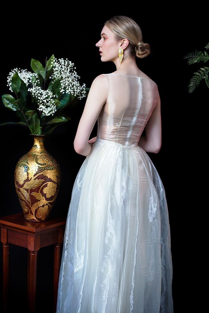 GRANDI art nouveau see through glass ball gown