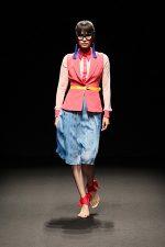 GRANDI Tokyo Fashion Week pink blue kawaii pleated skirt vest Black iris lenses