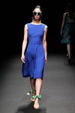 GRANDI Tokyo Fashion Week royal blue dress Black iris lenses