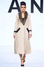 GRANDI Vancouver Fashion Week fur trim long coat