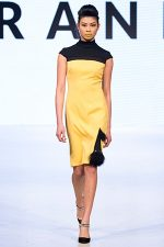GRANDI Vancouver Fashion Week yellow black dress