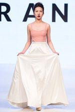GRANDI Vancouver Fashion Week pink blouse long white satin skirt