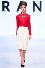 GRANDI Vancouver Fashion Week red blouse white pencil skirt office wear