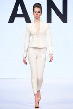GRANDI Vancouver Fashion Week white pant suit office wear