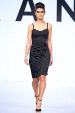 GRANDI Vancouver Fashion Week black slip dress
