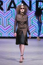 GRANDI Vancouver Fashion Week party girl chocolate shirt dress Black Iris lenses