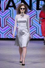 GRANDI Vancouver Fashion Week party girl silver dress Black Iris lenses