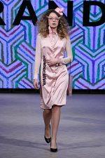 GRANDI Vancouver Fashion Week party girl pink shirt dress Iris lenses