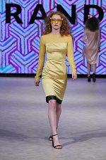GRANDI Vancouver Fashion Week party girl yellow dress Black Iris lenses