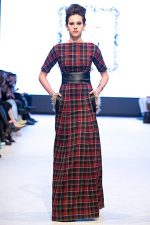 GRANDI runway full tartan gown with pockets