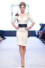 GRANDI runway white dress