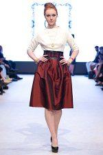 GRANDI runway red taffeta skirt