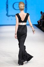 GRANDI open back mermaid tail gown couture