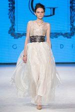 GRANDI runway white organza gown