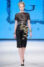 GRANDI runway black organza dress