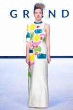 GRANDI Vancouver Fashion Week hand painted canvas dress
